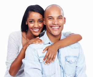 Happy Couple Smiling Invisalign Treatment Results